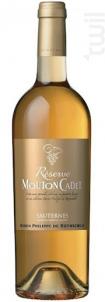 Mouton Cadet Réserve Sauternes - Baron Philippe De Rothschild - 2014 - Blanc