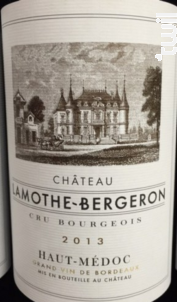Château Lamothe Bergeron - Château Lamothe Bergeron - 2013 - Rouge