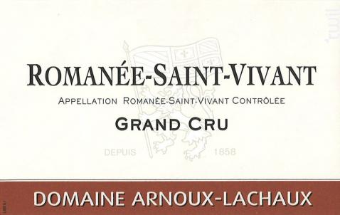 Romanée-Saint-Vivant Grand Cru - Domaine Arnoux-Lachaux - 2014 - Rouge