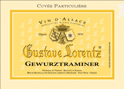 Gewurztraminer Cuvée Particulière - Gustave Lorentz - 2013 - Blanc