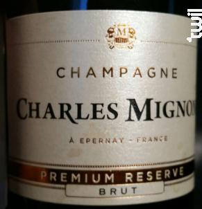 Premium Reserve Brut - Champagne Charles Mignon - Non millésimé - Effervescent