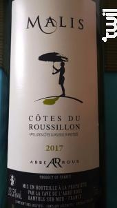 Malis Côtes du Roussillon - Cave Abbé Rous - 2018 - Rouge