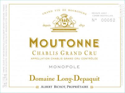 Chablis Grand Cru Moutonne Monopole - Domaine Long-Depaquit - Domaines Albert Bichot - 2019 - Blanc