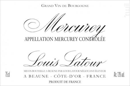 MERCUREY - Maison Louis Latour - 2015 - Rouge