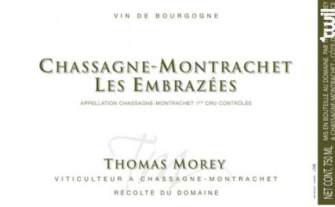 Chassagne-Montrachet Embrazées - Domaine Thomas Morey - 2016 - Blanc
