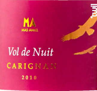 Vol de Nuit - Mas Amiel - 2015 - Rouge