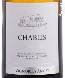 Chablis - Vignoble Angst - 2018 - Blanc