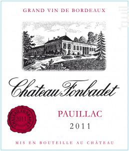 Château Fonbadet - Château Fonbadet - 2011 - Rouge