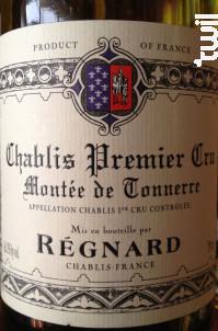 Chablis 1er cru Montée De Tonnerre - Maison Régnard - 2014 - Blanc