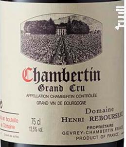 CHAMBERTIN - Domaine Henri Rebourseau - 2002 - Rouge