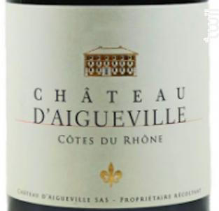 Chateau D'aigueville - Chateau D'Aigueville - 2017 - Rouge