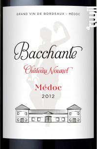 La Bacchante - Château Nouret - 2012 - Rouge