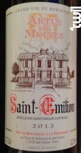 Artus des Moines - Union de Producteurs de Saint-Emilion - 1990 - Rouge