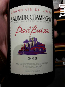 Saumur Champigny - Paul Buisse - 2016 - Rouge