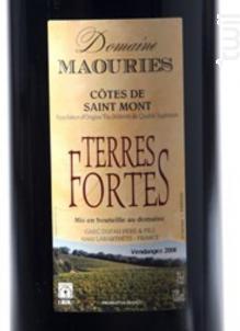 Terres Fortes - Domaine de Maouries - 2014 - Rouge