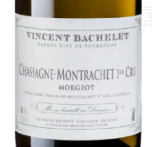 Chassagne Montrachet 1er cru Les Morgeots - Domaine Vincent Bachelet - 2011 - Blanc