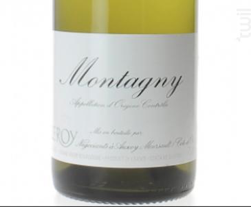 Montagny - Domaine Leroy - 2015 - Blanc