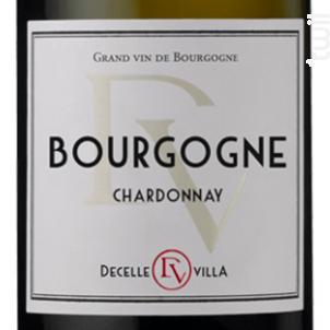 BOURGOGNE CHARDONNAY - Domaine DECELLE-VILLA - 2014 - Blanc