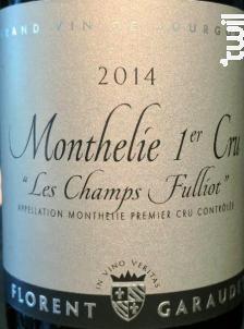MONTHELIE 1er cru Les Champs Fulliot - Domaine Florent Garaudet - 2016 - Rouge