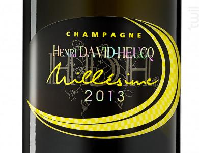 Millésime 2013 - Champagne Henri David-Heucq - 2013 - Effervescent