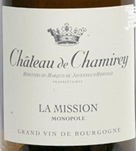 Mercurey 1er Cru La Mission Monopole - Château de Chamirey - 2015 - Blanc