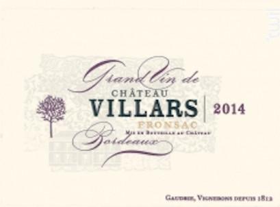 Château Villars - Château Villars - 2016 - Rouge