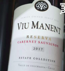 Estate collection reserva - cabernet sauvignon - Viu Manent - 2017 - Rouge