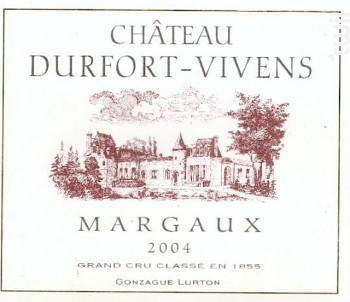 Château Durfort-Vivens - Château Durfort-Vivens - 2004 - Rouge