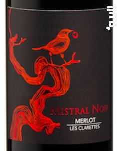 Mistral Noir - Merlot - Château Clarettes - 2016 - Rouge