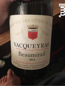 Vacqueyras Beaumirail - Gigondas La Cave - 2014 - Rouge