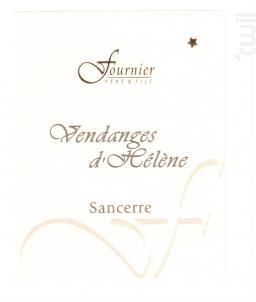 Sancerre Les Vendanges d'Hélène - FOURNIER Père & Fils - 2011 - Blanc