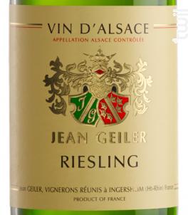 Riesling - Cave Jean GEILER Vins & Crémants d'Alsace - 1999 - Blanc
