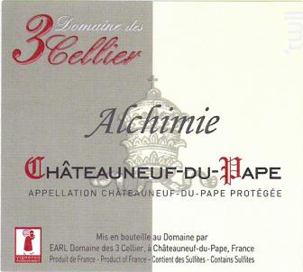 Alchimie - Domaine des 3 Cellier - 2017 - Rouge