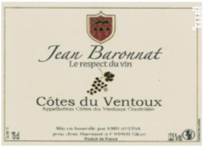 Côtes du Ventoux - Baronnat Jean - 2017 - Rouge