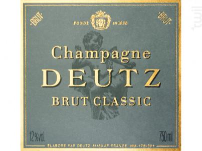 Brut Classic - Champagne Deutz - Non millésimé - Effervescent