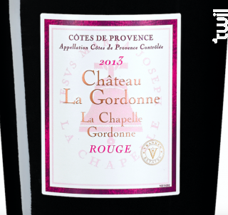 La Chapelle Gordonne - Chateau La Gordonne - 2013 - Rouge