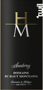 Cuvée Audrey - Domaine Haut Montlong - 2016 - Blanc