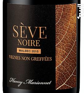 Sève Noire Vignes non greffées Touraine Malbec - Henry Marionnet - 2015 - Rouge