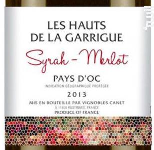 Les Hauts de la Garrigue Syrah-Merlot - Château Canet - 2017 - Rouge