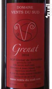 Cuvée Grenat vin doux naturel - Domaine Vents du Sud - 2018 - Rouge