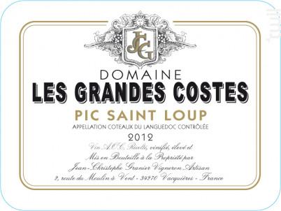 Les Grandes Costes - LES GRANDES COSTES - 2012 - Rouge