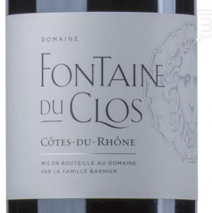 COTES DU RHONE - Domaine Fontaine du clos - 2017 - Rouge