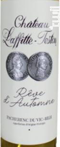 Rêve d'Automne - Château Laffitte-Teston - 2018 - Blanc