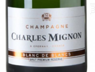 PREMIUM RESERVE Brut BLANC DE BLANCS Grand Cru - Champagne Charles Mignon - Non millésimé - Effervescent