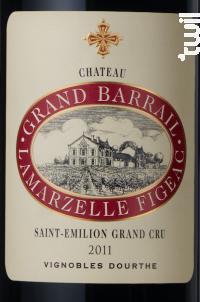 Château Grand Barrail Lamarzelle Figeac - Vignobles Dourthe - Château Grand Barrail Lamarzelle Figeac - 2011 - Rouge