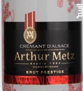 Crémant Brut Prestige - Arthur METZ - Non millésimé - Effervescent