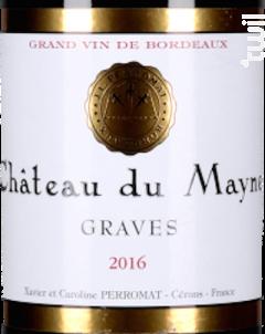 Château Du Mayne - Château Cérons – Château Du Mayne - 2017 - Rouge