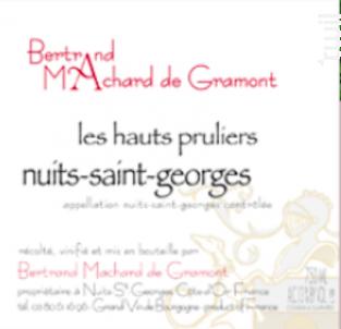 Nuits-Saint-Georges Les Hauts-Prûliers - Domaine Machard de Gramont - 2011 - Rouge