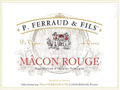 Mâcon - P. Ferraud & Fils - 2019 - Rouge