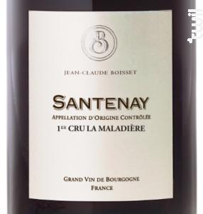 Santenay Premier Cru La Maladière - Jean-Claude Boisset - 2014 - Rouge